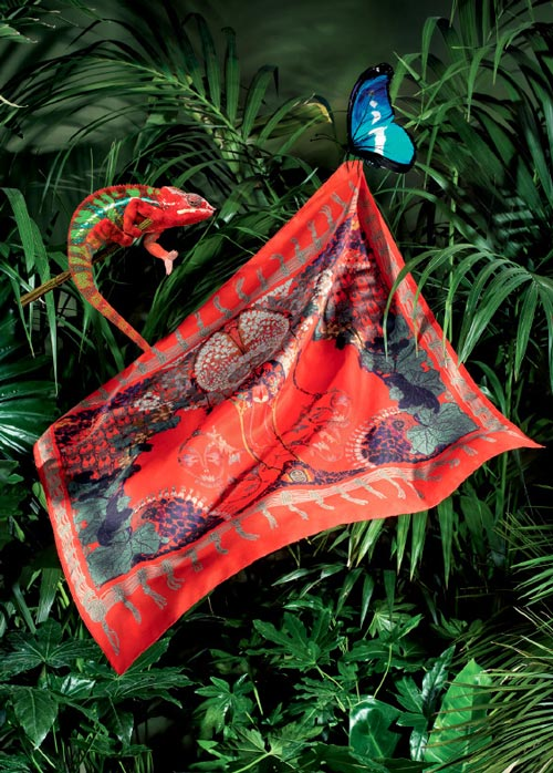 Etro Silk Scarf in Red - Etro Spring/Summer 2018 Collection