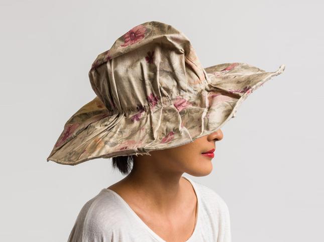 Kloshar Floral Wide Brim Terra Hat