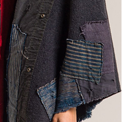 Greg-Lauren-_-Detail-of-Striped-Blanket-Wrap-in-Red_Black