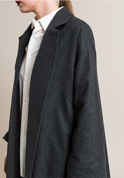 Kaval-Tumbled-Fine-Twill-Cashmere-A-Line-Overcoat-in-Charcoal