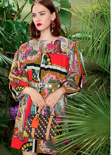 Etro SS18 Vivid florals and plant prints dark florals