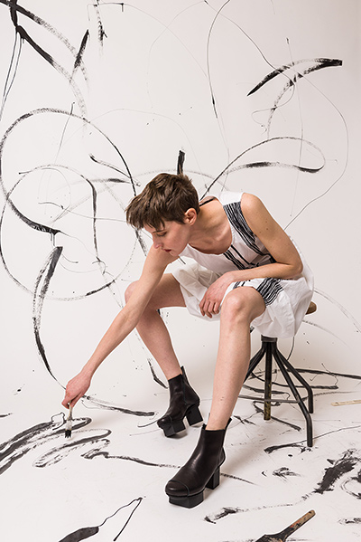 Trippen Rundholz Black Label ss18 Cy Twombly in Fashion Paint Art