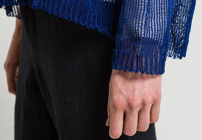 boboutic knitwear sweater spring summer 2018 endless line of yarn