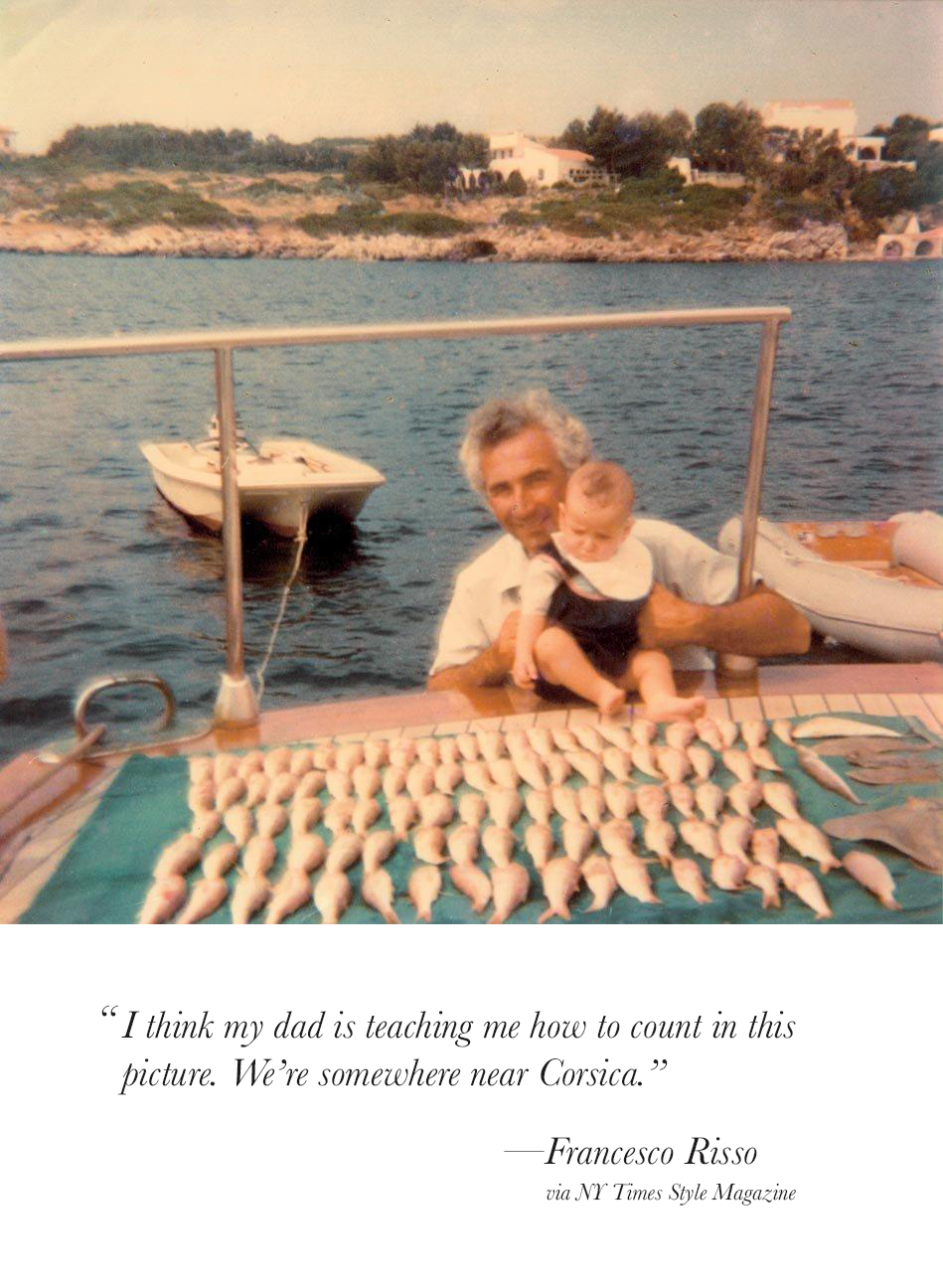 Francesco Risso on a Boat with his Father