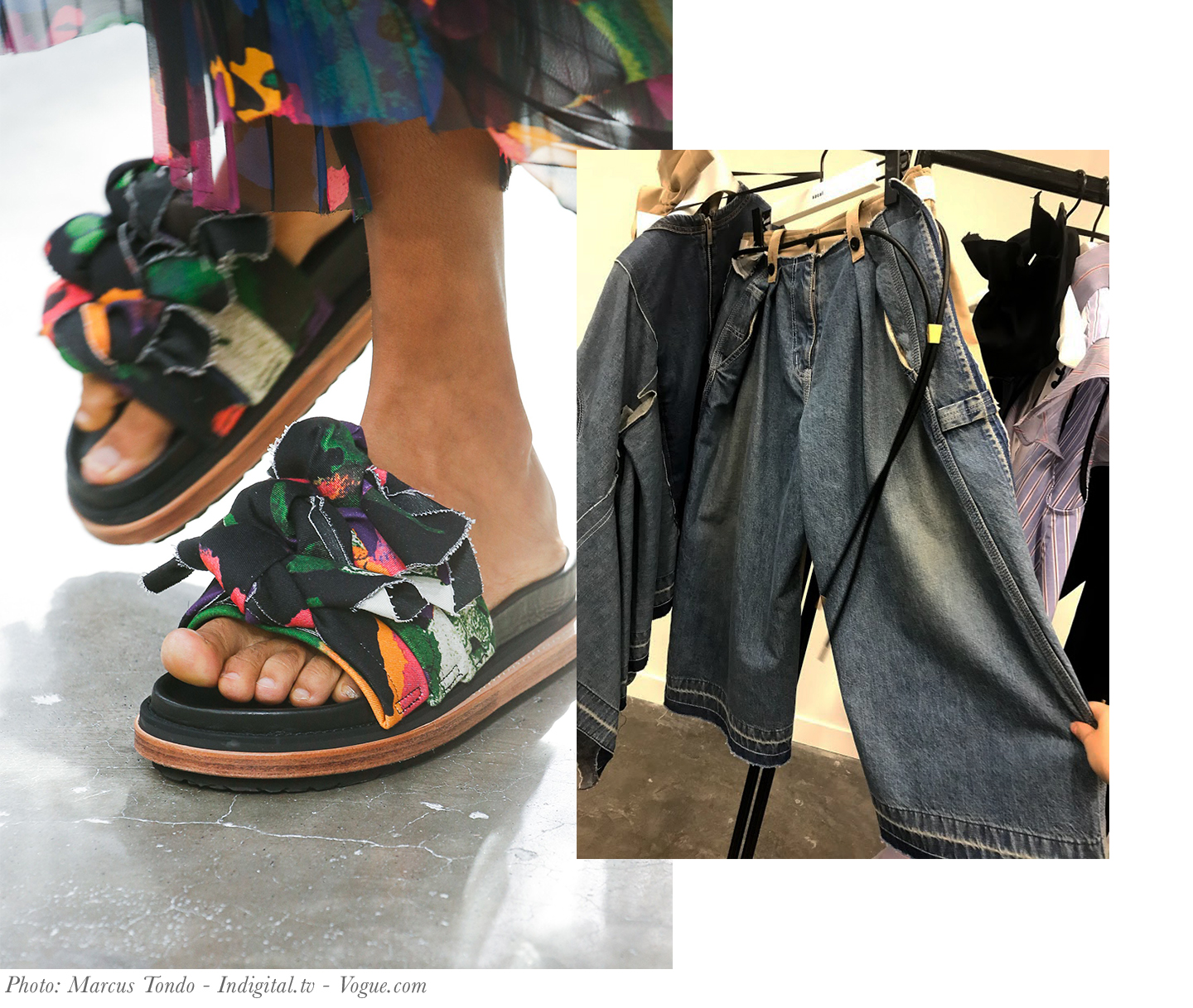 Sacai Sandals and Jeans Spring 2019