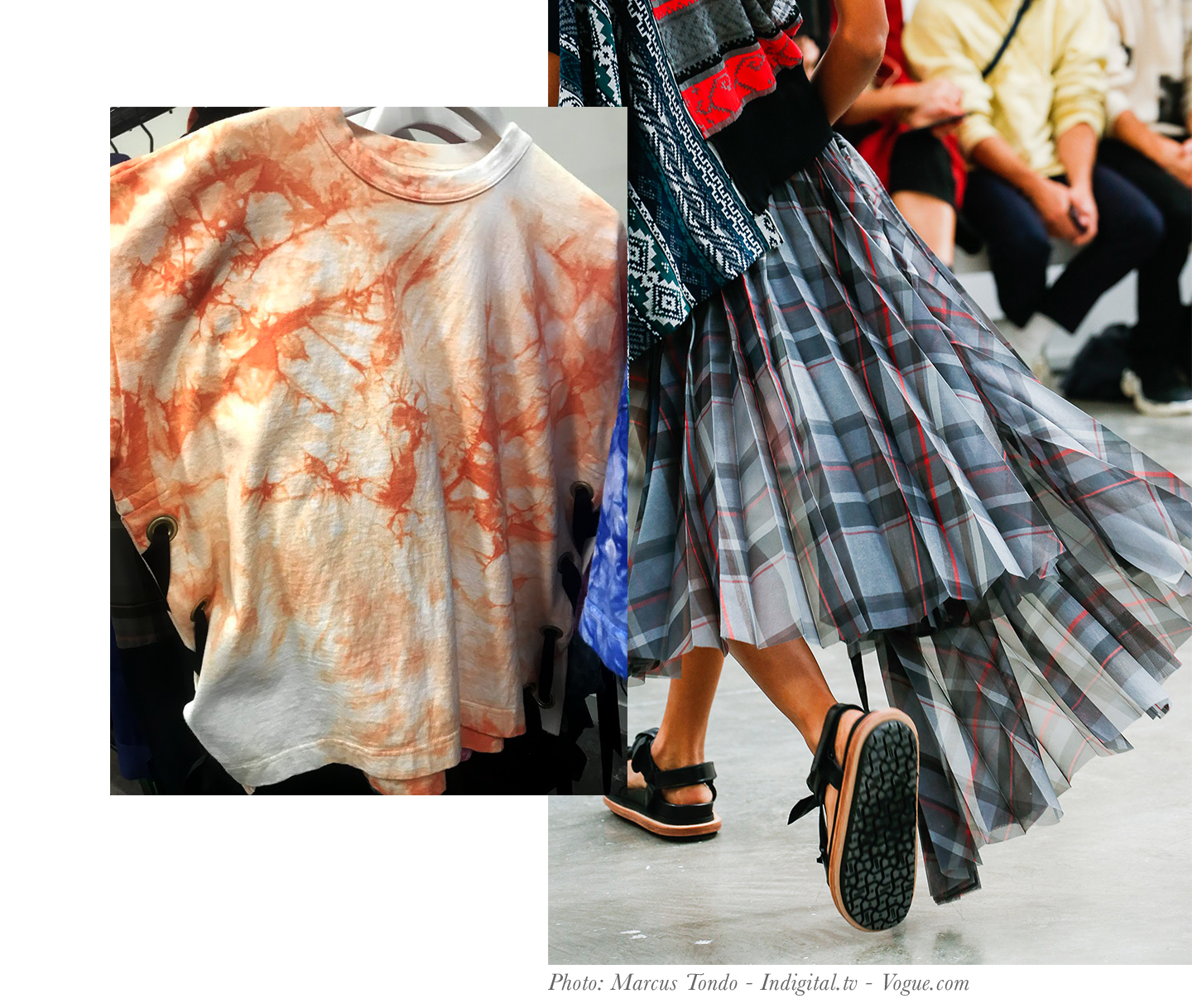 Sacai Shirt and Skirt Spring 2019