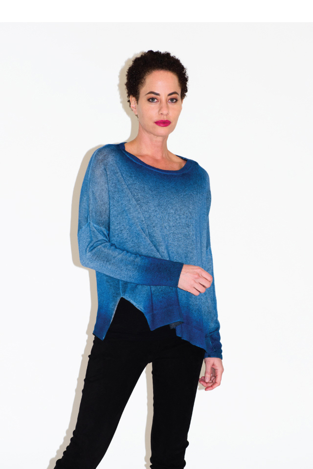 Avant Toi Oversized Cashmere Sweater in Denim