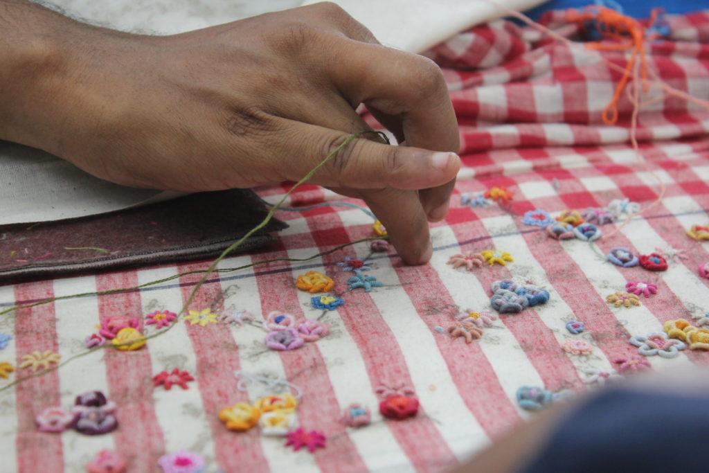 ilovepero embroidering process