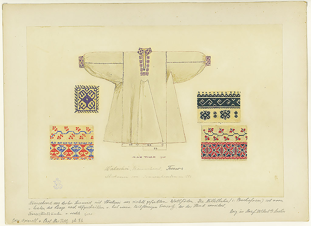 1924 - Traditional Vyshyvanka Design and Structure of Garment