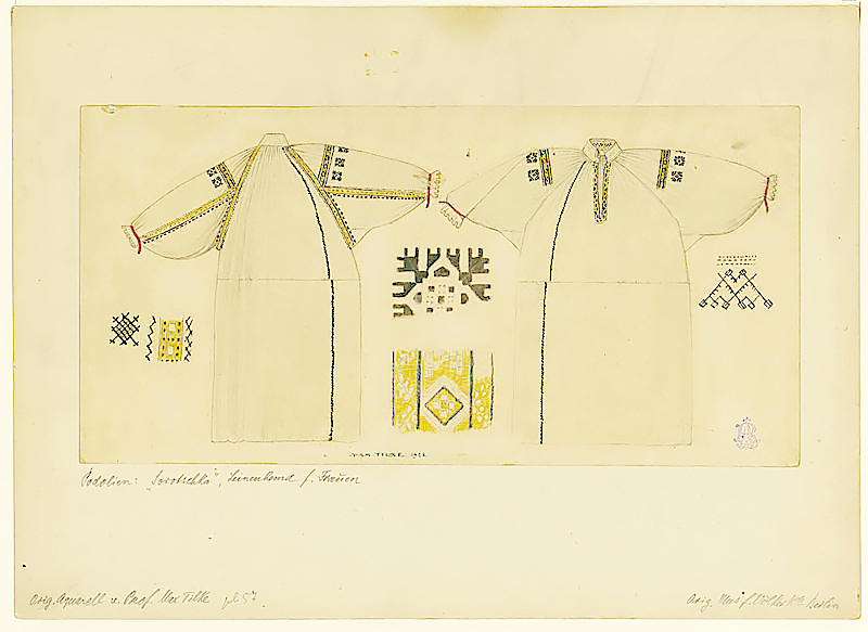 1923 - Traditional Vyshyvanka Design and Structure of Garment