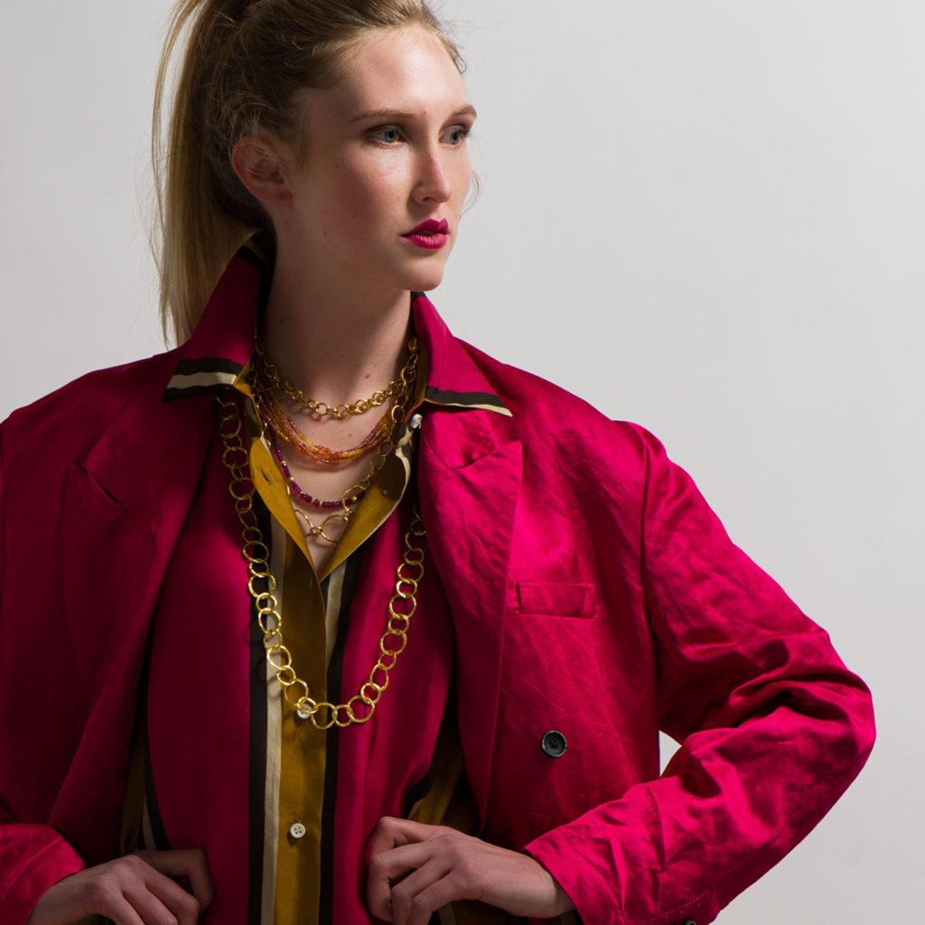Uma Wang Cardedu Kaira Jacket in Flamingo