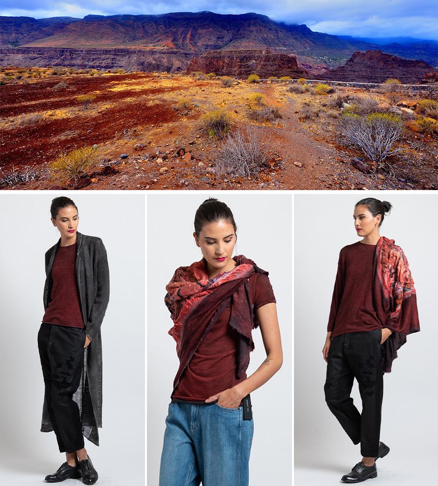 Rolled Hem Sweater in Nero/ Smalto, Hand-Painted T-Shirt in Nero/ Smalto, Barchetta Sweater in Nero/ Smalto