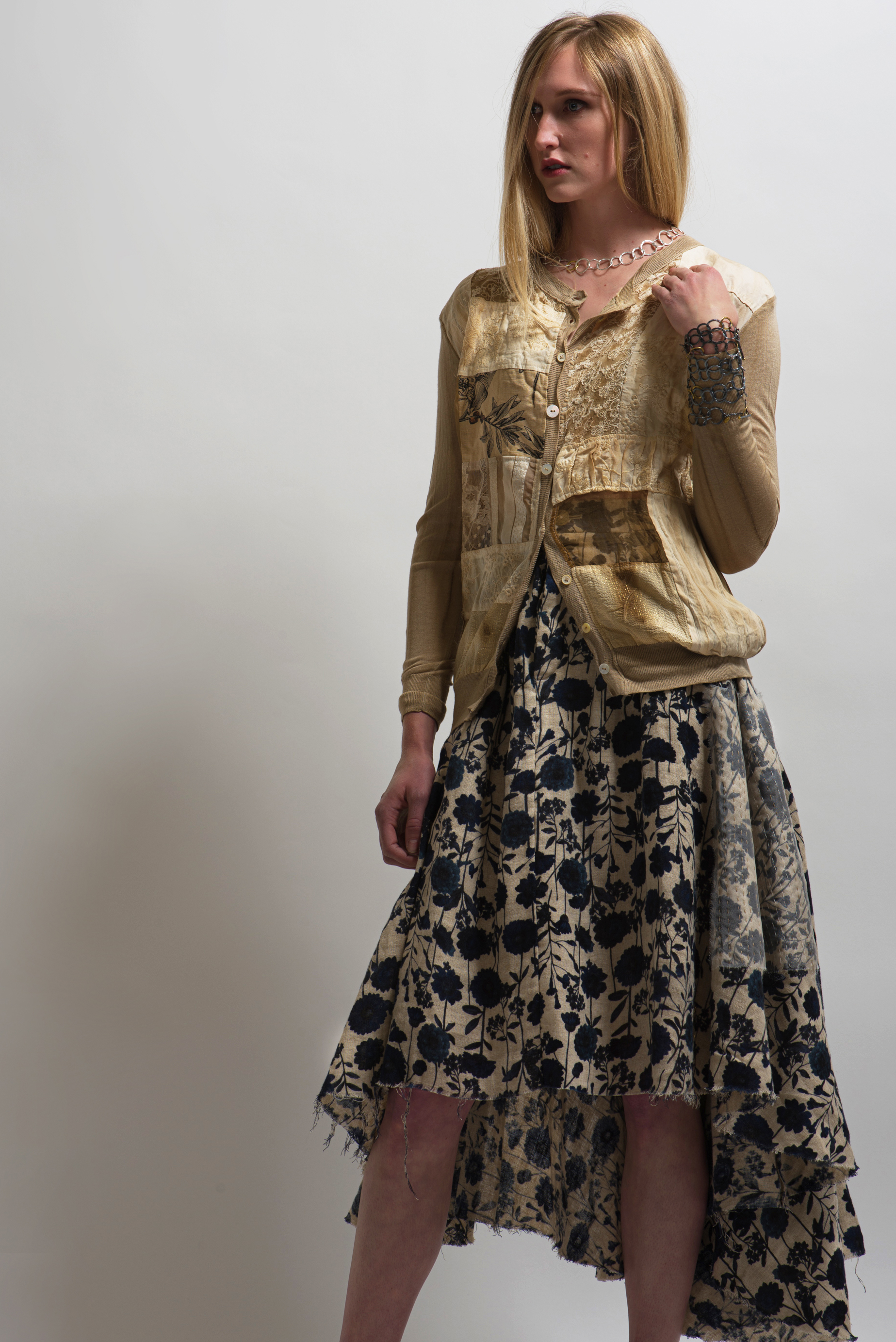 A Tentative Atelier Galsworthy Skirt in Beige