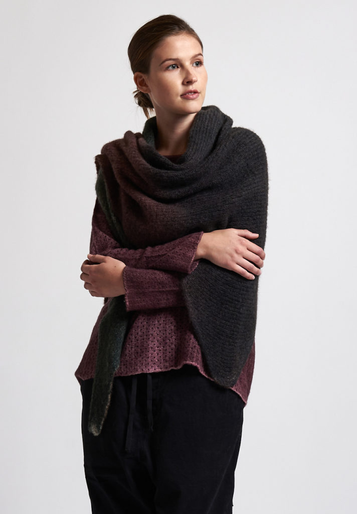 f cashmere Ombre Scarf in Brown