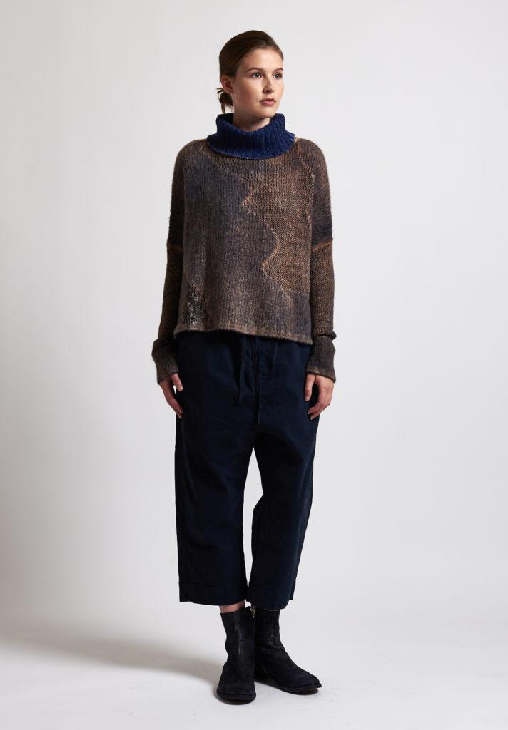f cashmere Textured Turtleneck Sweater