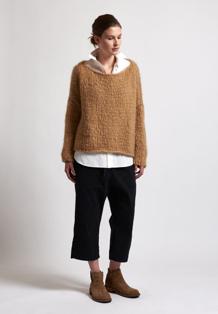 f cashmere Loose Knit Sweater in Natural