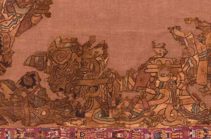 Painted Poncho Paracas Necropolis, Intermedio Temprano 2-3 (c. 100 AD – 300 AD)