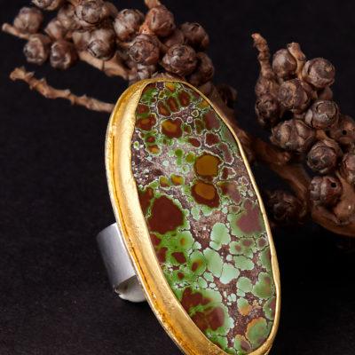 Greig Porter Grasshopper Turquoise Ring