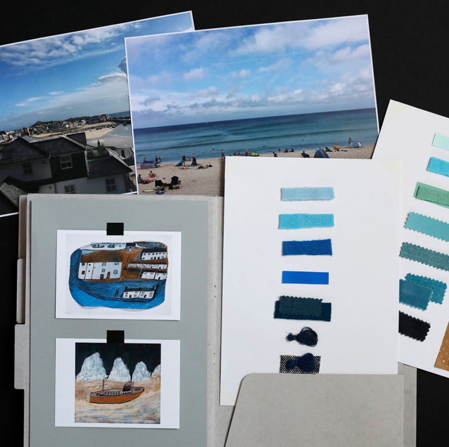 Todd & Duncan Blue Cashmere Color Card