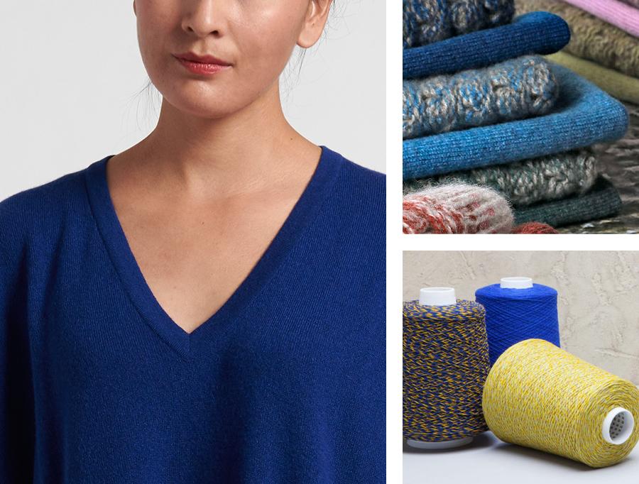 Hania New York Deep Blue V Neck Sweater