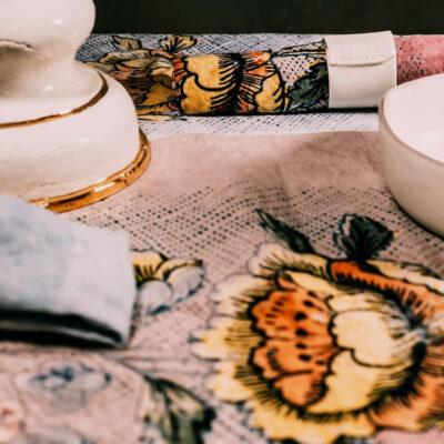 Bertozzi: Rosa Antica Table Linens