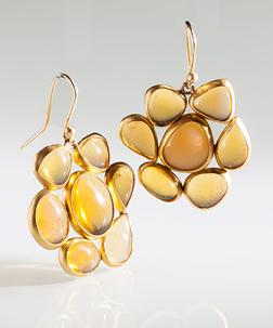 Heike Grebenstein Fire Opal Flower Earrings | Jewelry Inspiration Board | Santa Fe Dry Goods & Workshop