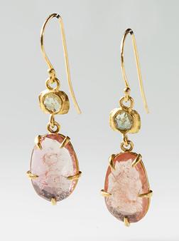 Margery HirscheyPink Tourmaline and Diamond Earrings | Jewelry Inspiration Board | Santa Fe Dry Goods & Workshop