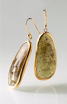 Heike Grebenstein Large Stone Green Tourmaline 22k Earrings | Jewelry Inspiration Board | Santa Fe Dry Goods & Workshop