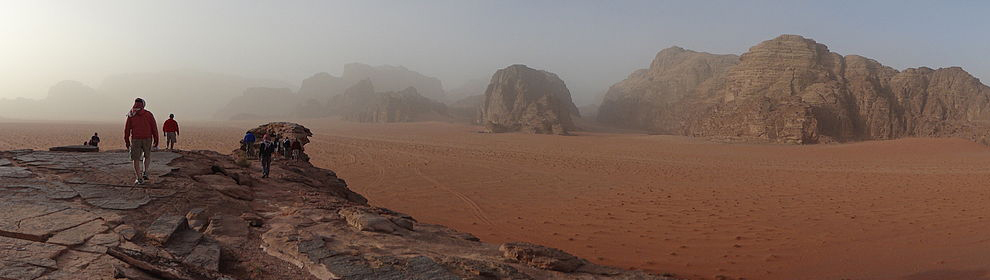 Wadi Rum Desert Landscape by Jnjn1980 via Wikipedia Commons | Nature Walk Mosaic | Santa Fe Dry Goods & Workshop
