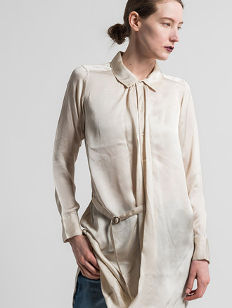 Nicholas K Ritz Drape Tunic in Ecru White | Nature Walk Mosaic | Santa Fe Dry Goods & Workshop