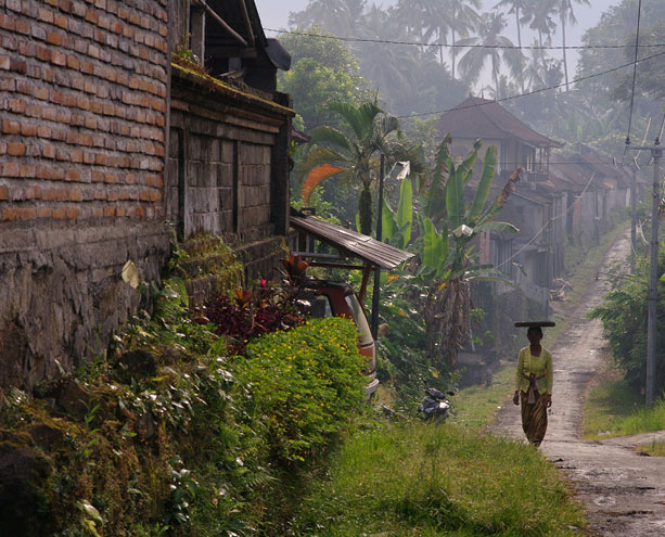Bali Rural Street with Woman | Mood Board for Urban Zen SS17 | Santa Fe Dry Goods & Workshop