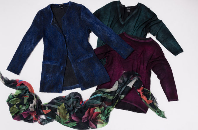 Avant Toi Blue Cardigan, Cashmere Sweaters, and Som Le Dues Leaf Scarf