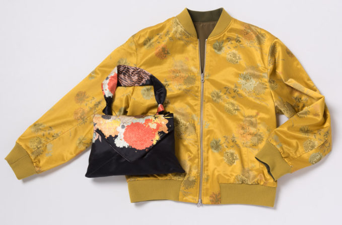 Dries Van Noten Yellow Floral Jacket and Black and yellow floral Purse