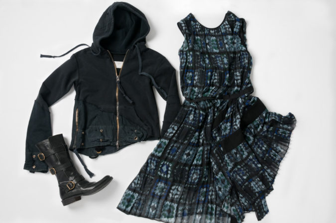 Greg Lauren Clothing Coat Sacai Clothing Dress and Fiorentini and Baker Boots